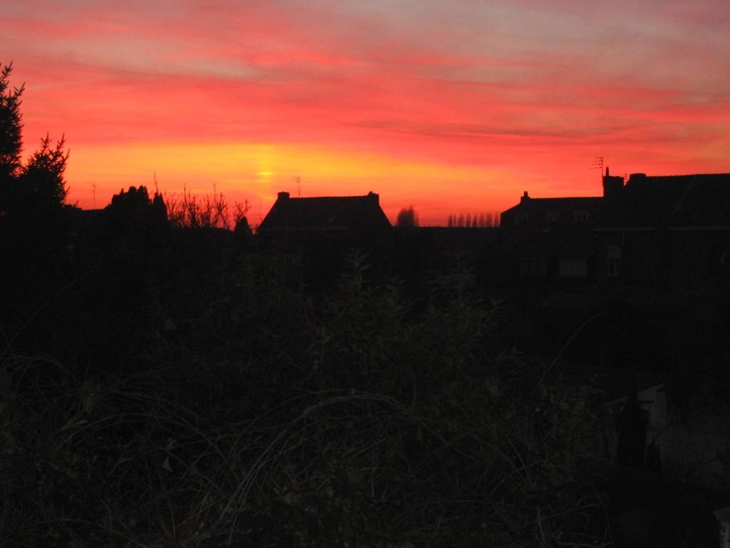 Twilight over Quesnoy-sur-Deule, France