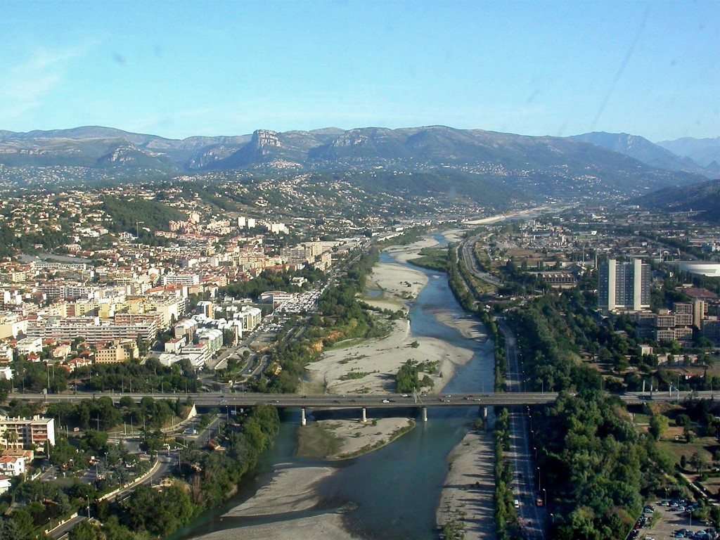 Aerial View Of The Vallée Du Var Near Nice, Saint Laurent Du . Experts At  The Chamber Of Trades ...