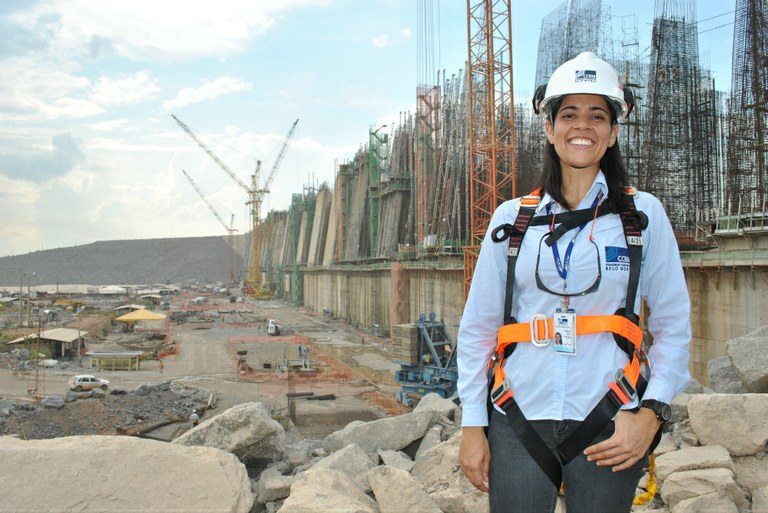 Engineer at the construction site of Belo Monte, Brazil