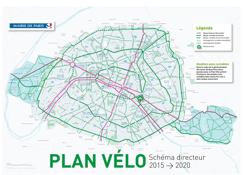 Paris Bike Plan 2015-2020, Paris, France