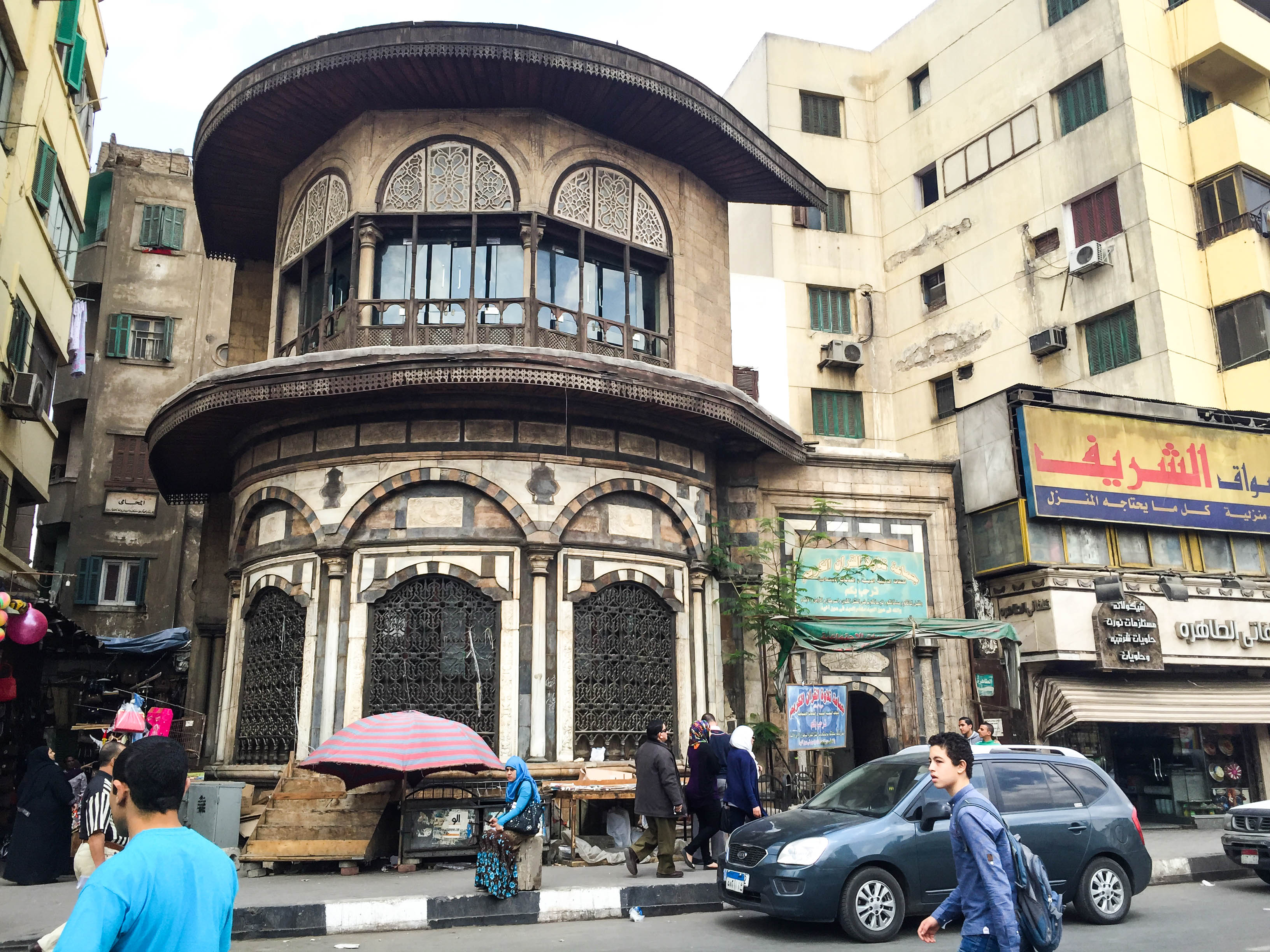 Busy street in downtown Cairo, Egypt