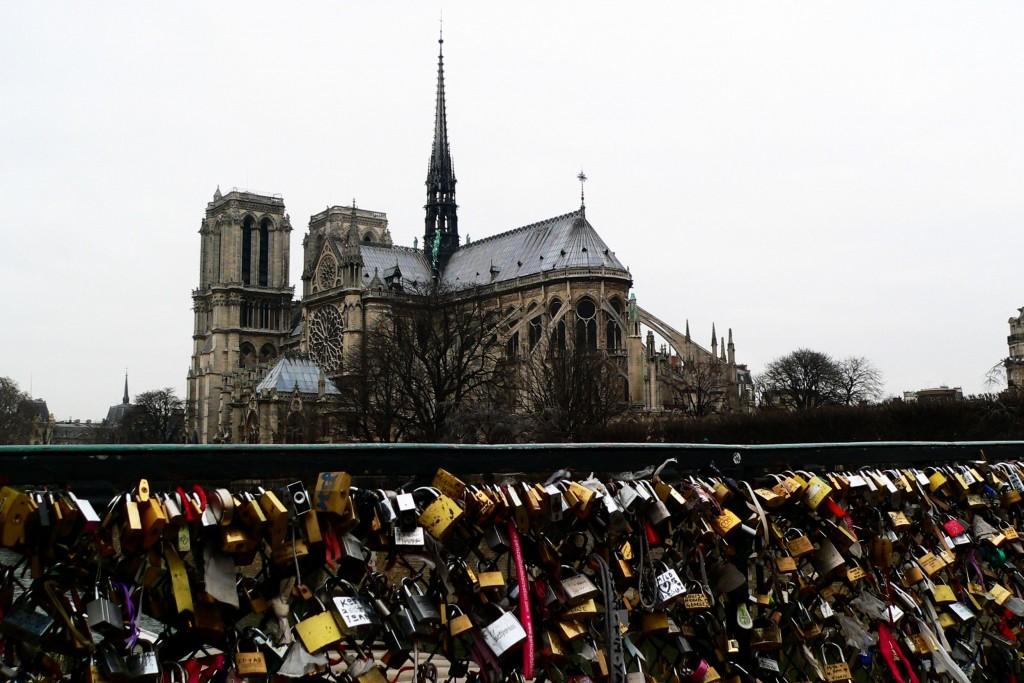 Pont d'Archeveche Paris padlocks, France