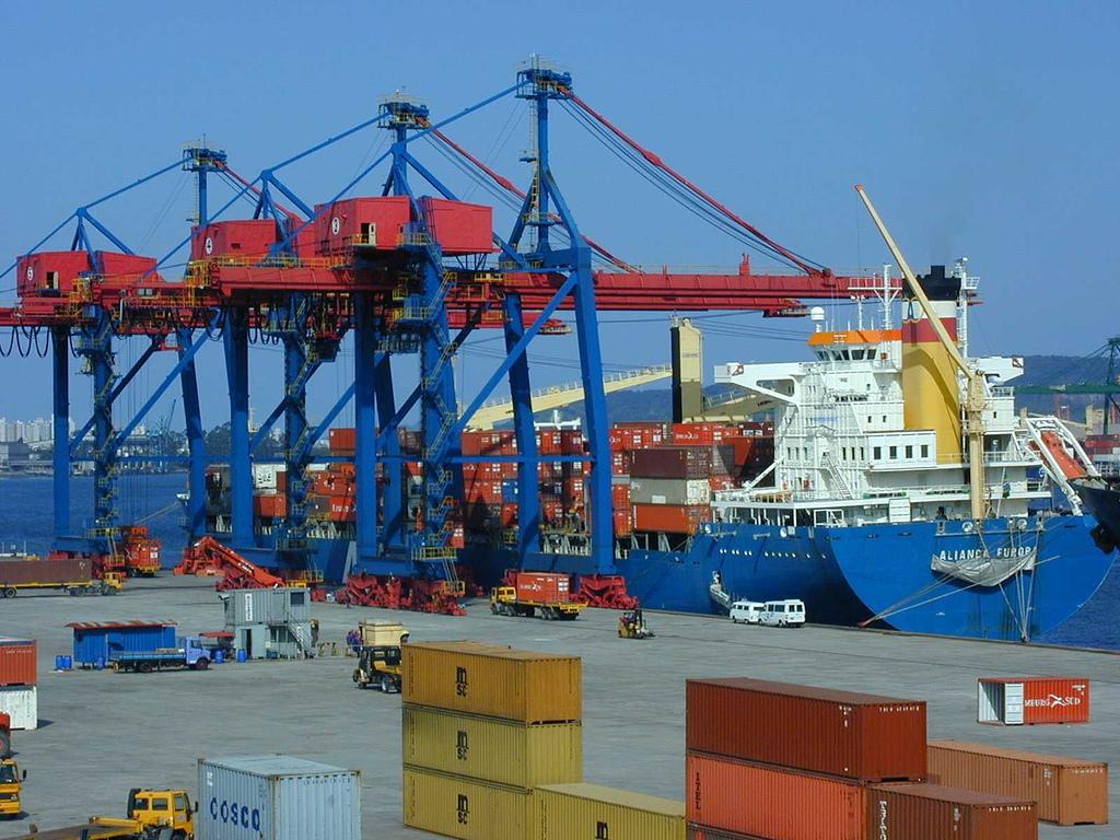 Santos Port in São Paulo, Brazil