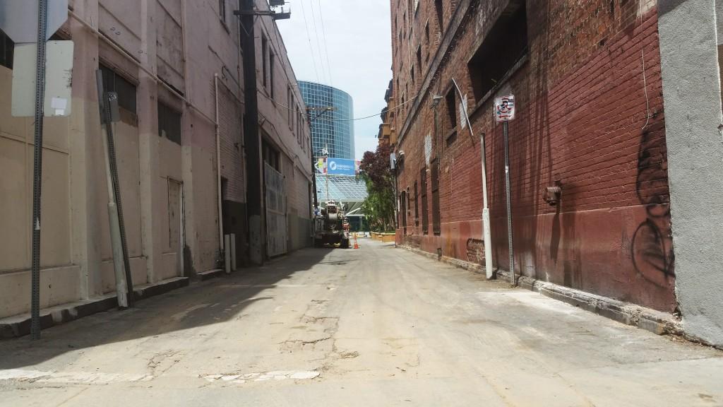 Alleyway in South Park, Los Angeles, California