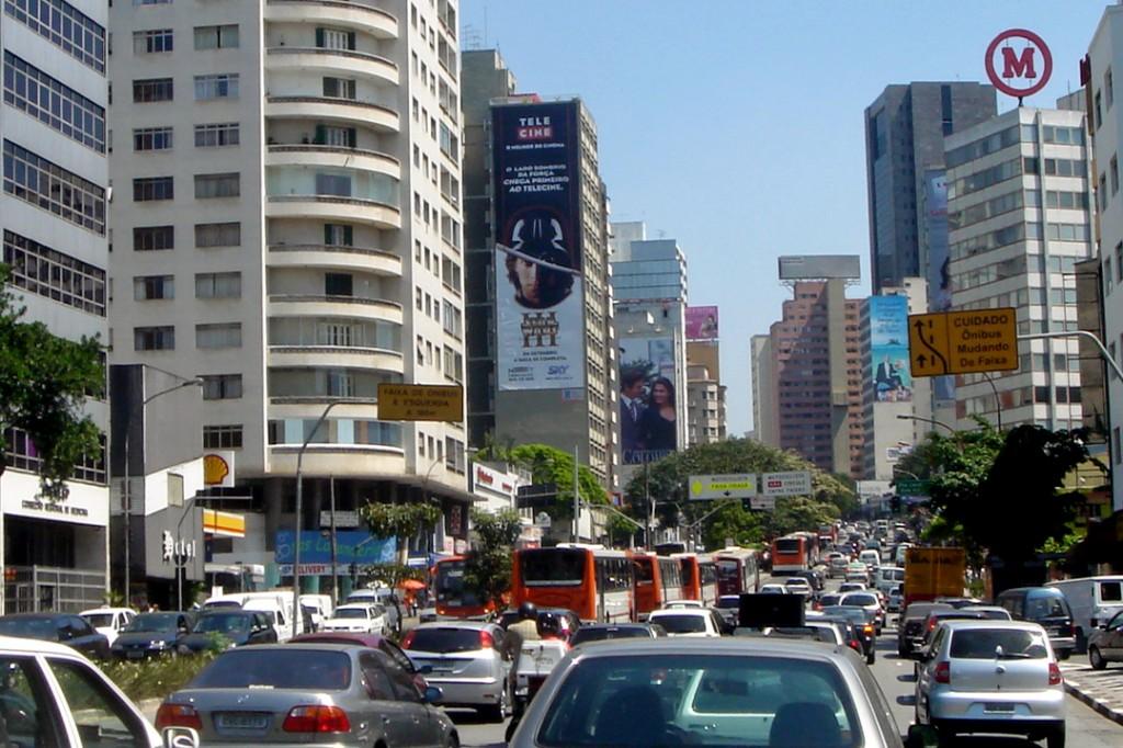 Traffic congestion in São Paulo, Brazil