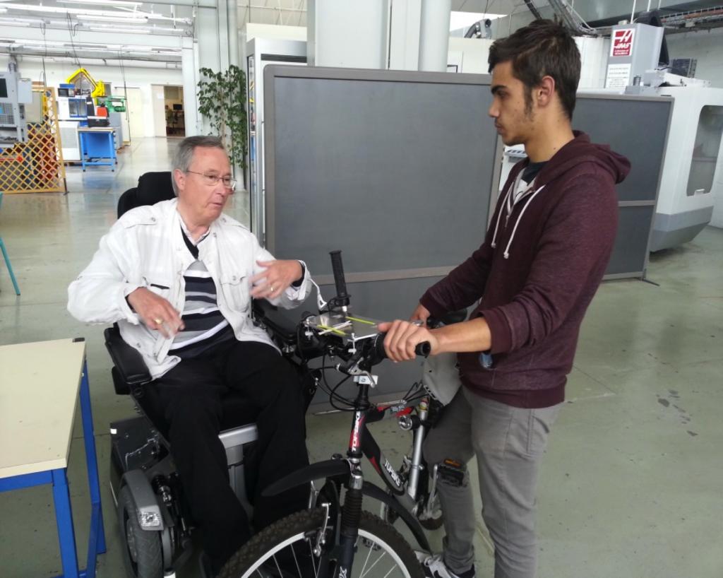 Bike4II Tests Handlebar Invention Châlons-en-Champagne, France