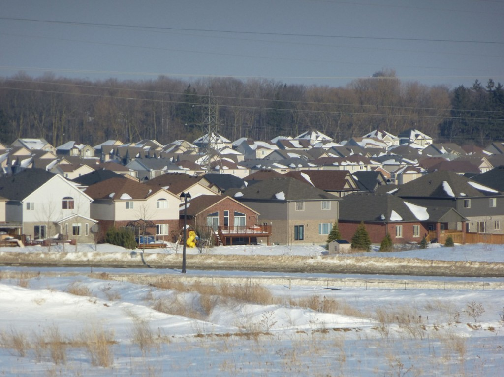Waterloo, Canada suburban sprawl