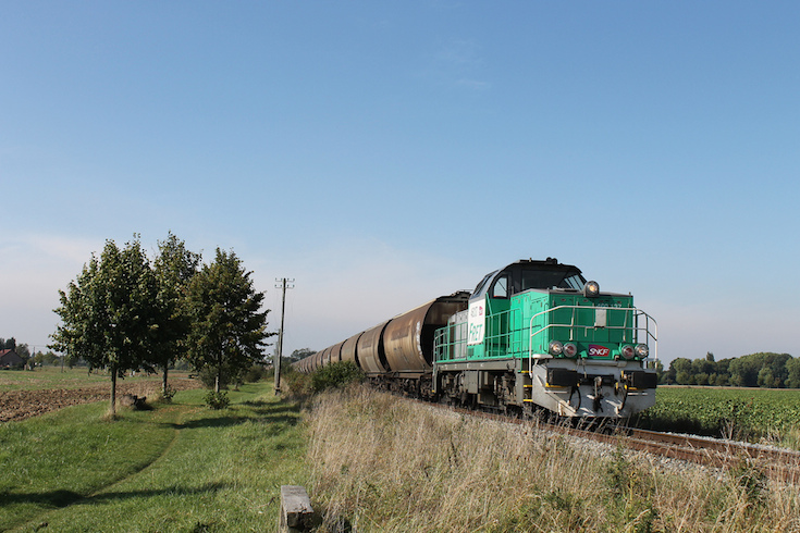 Train in Countryside, Lille, France