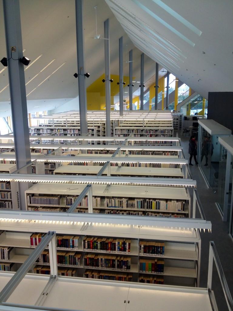 Varennes Library interior, Varennes, Montreal, Quebec, Canada