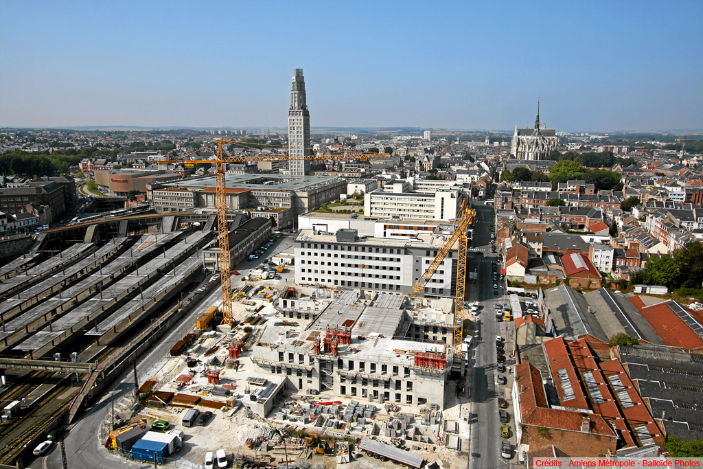 Construction in Amiens, France