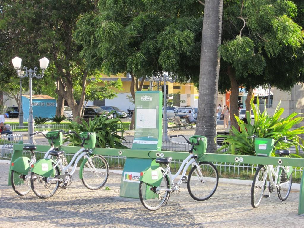 Bike station in Petrolina, Pernambuco, Brazil