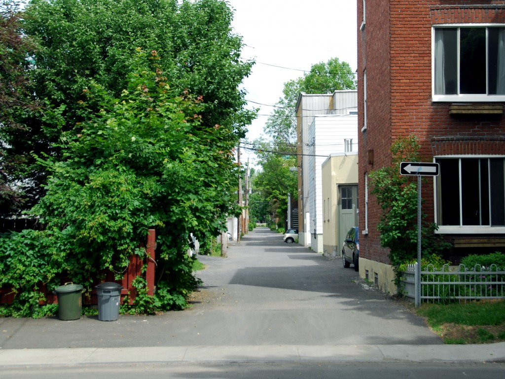 Alley in Old Limoilou, Quebec