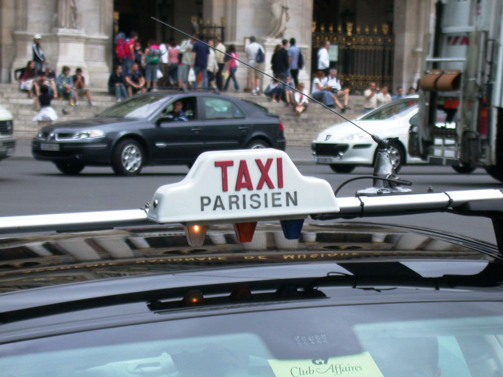 Taxi Sign in Paris, France