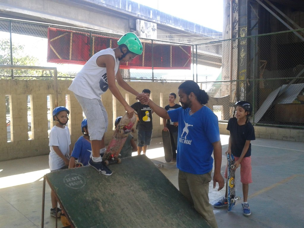 Young skaters taking lessons, Rio de Janeiro, Brazil
