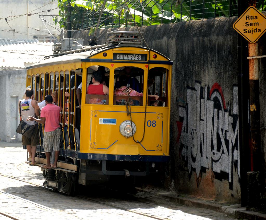 Bonde car, Rio de Janeiro, Brazil