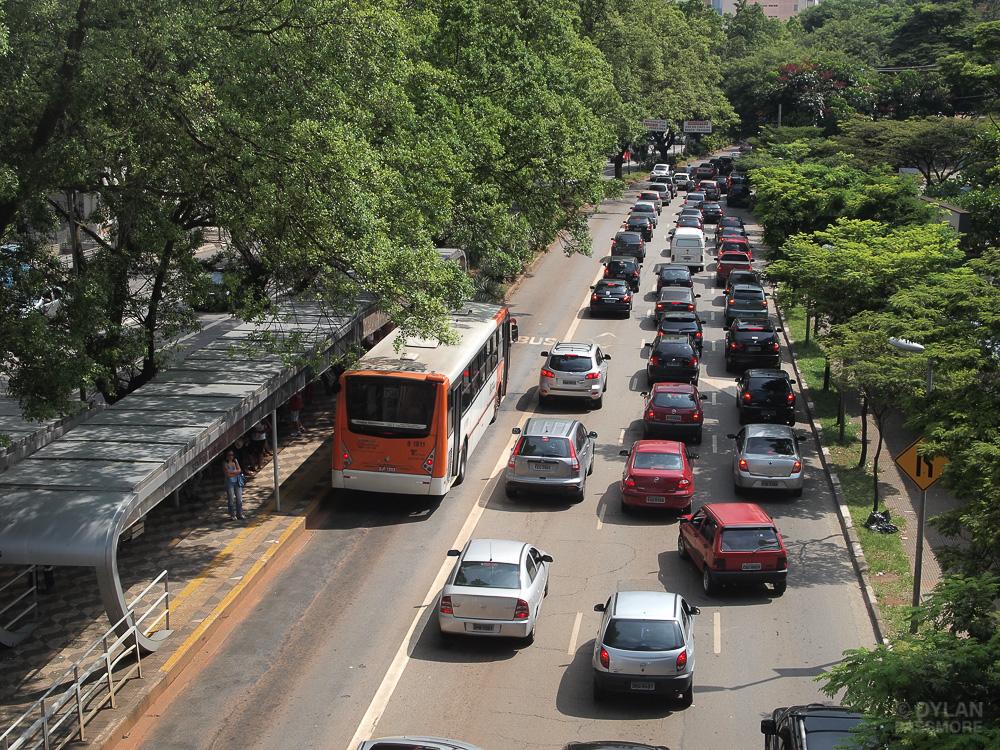 Highway in Sao Paulo, Brazil