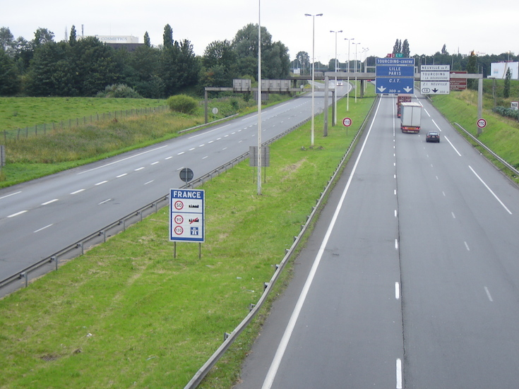 Highway near Neuville-en-Ferrain, France