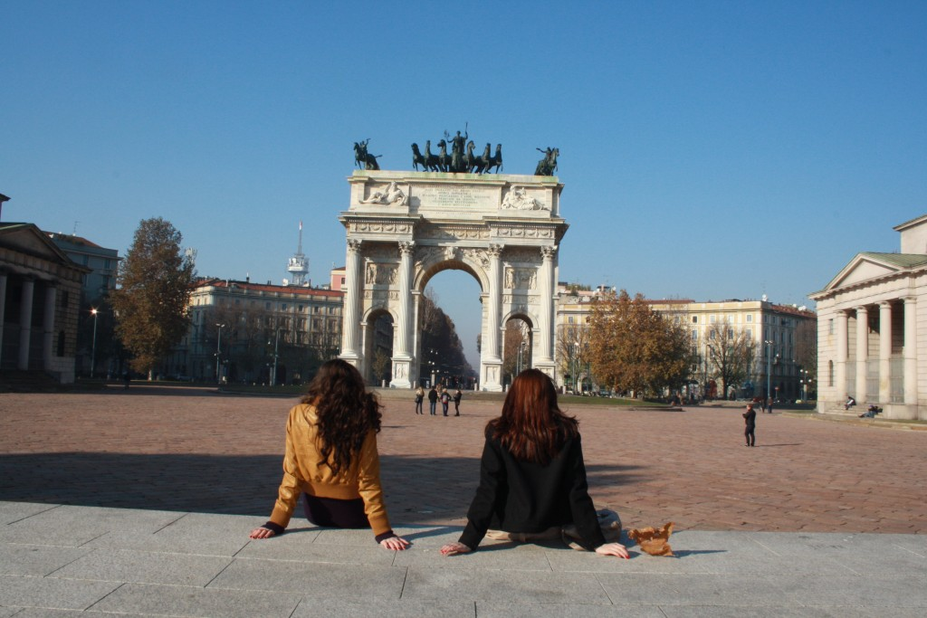 In front of Arco Sempione, Milan ,Itay