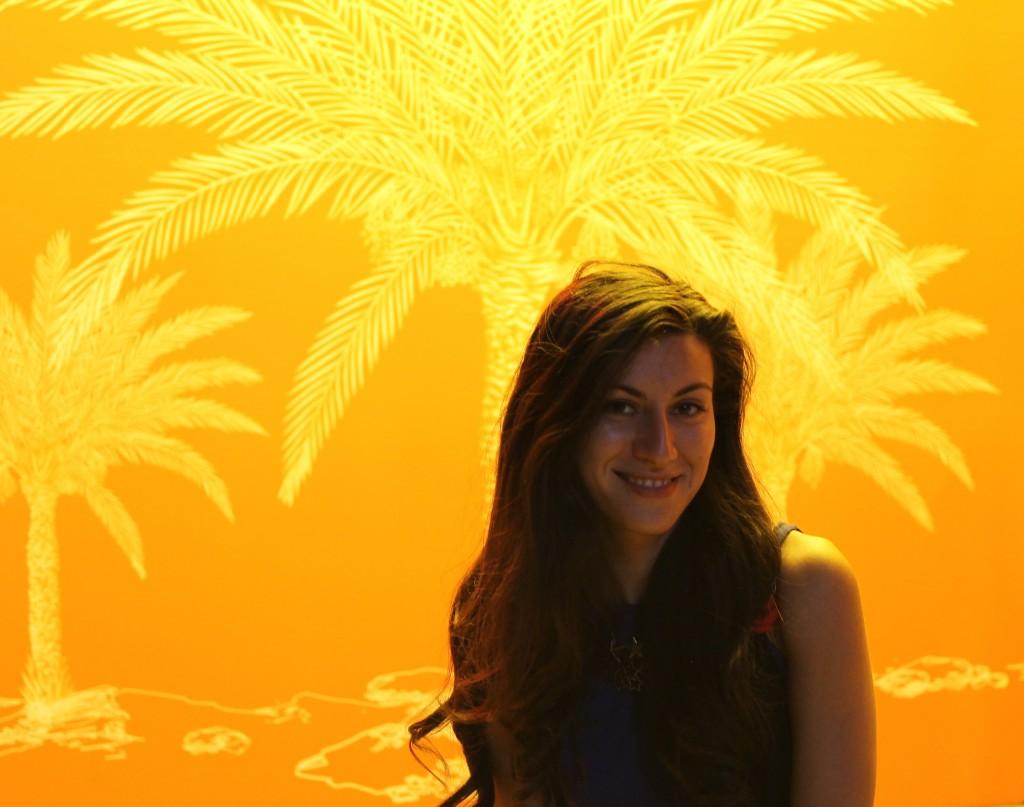 Alexandra Serbana inside Morocco`s pavilion at Expo 2015,Milan,Italy