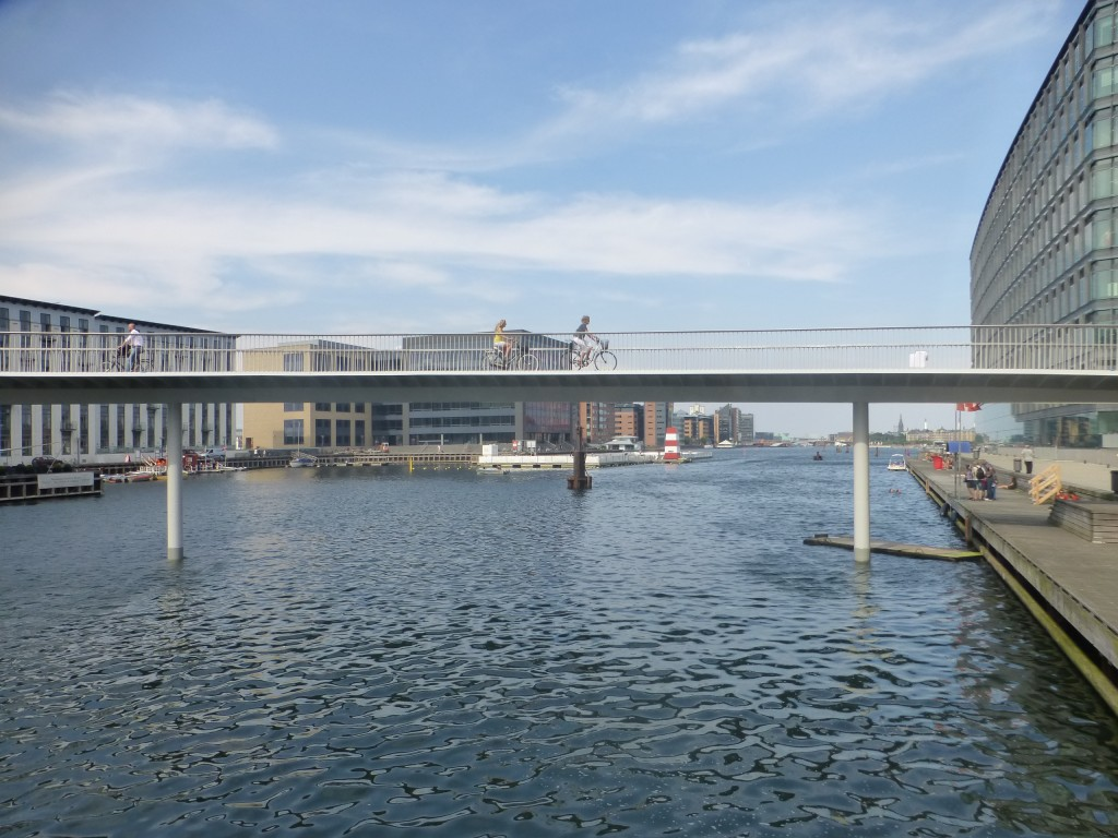 Cycle bridge in Copenhagen, Denmark