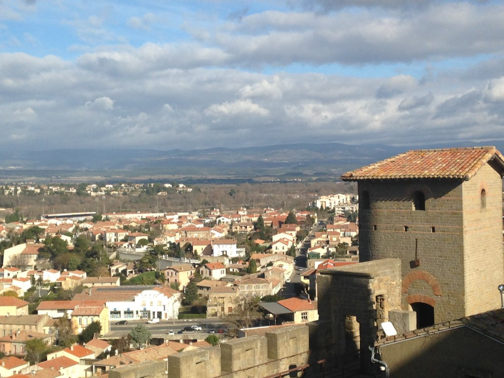 Carcassonne, France as seen from the fortified portion of the city