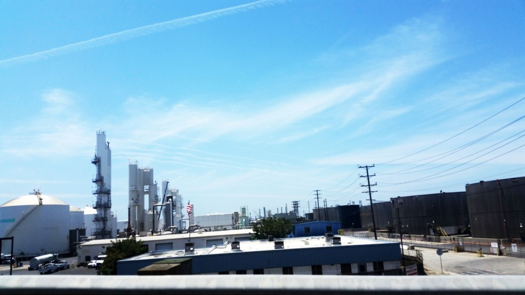 Oil refinery, Wilmington, California