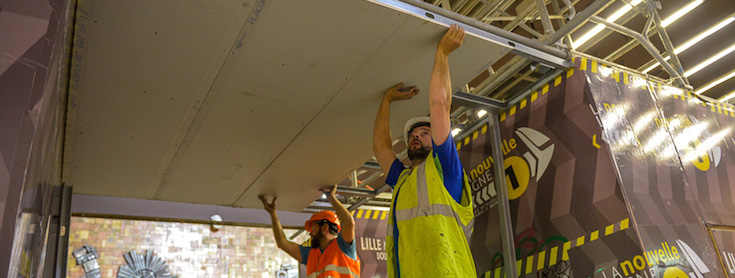 Construction Workers at Lezennes Station, Lille, France