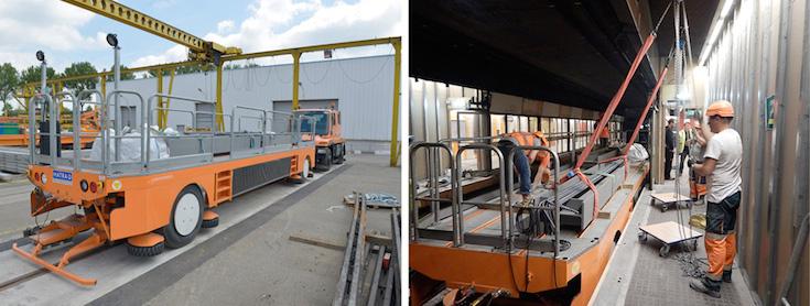 Construction at Lezennes Station, Lille, France