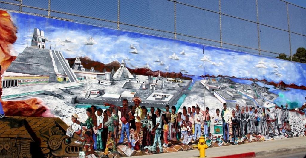 Mural in Boyle Heights, Los Angeles, United States from Flickr by user jondoeforty1