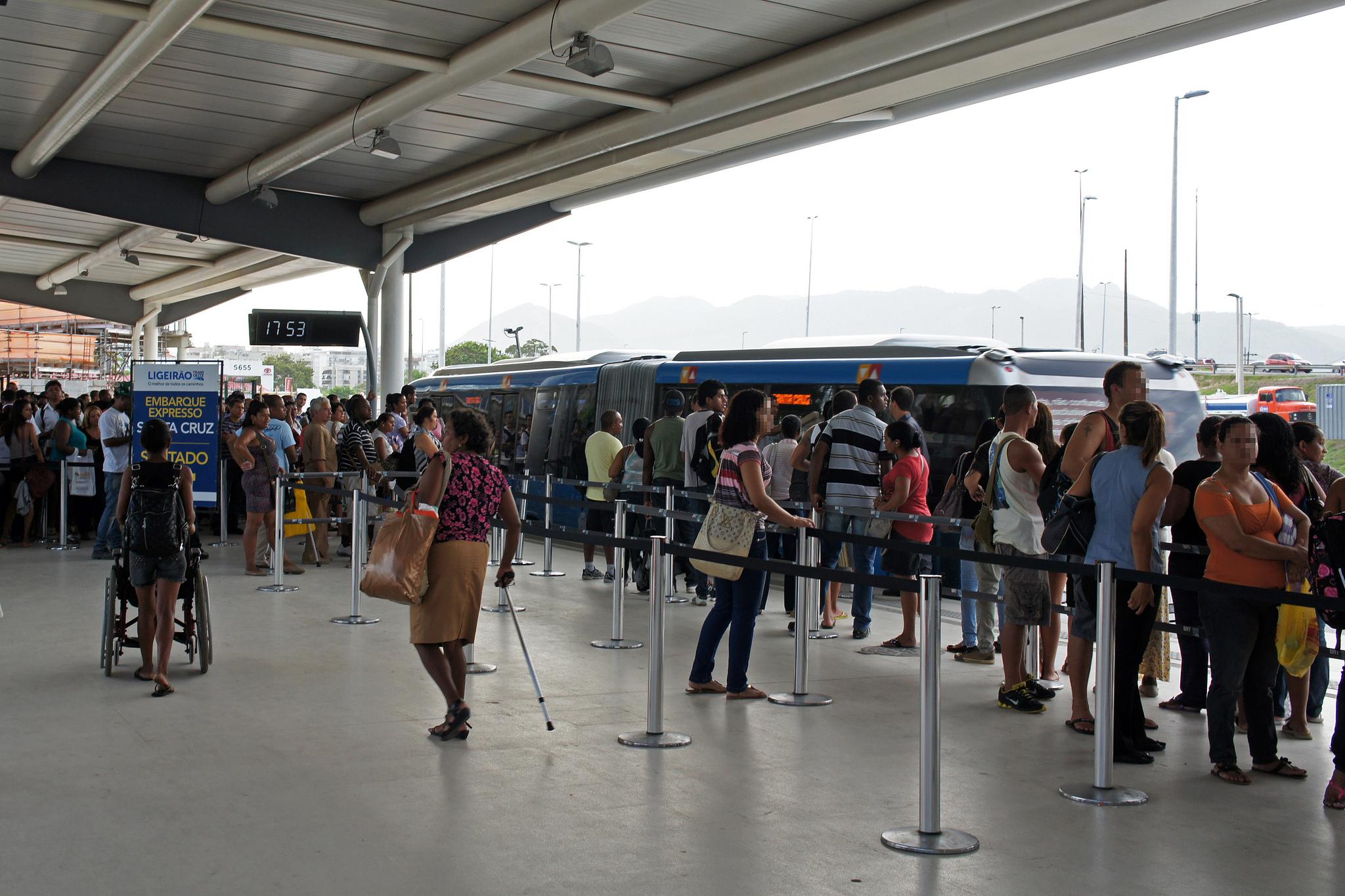 Terminal Alvorada, Alvorada bus terminal of the Barra da Tijuca neighborhood, Rio de Janeiro, Brazil