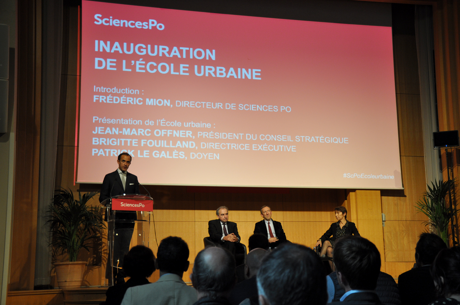 Sciences Po, Paris, France presentation. Inauguration de l'ecole urbaine