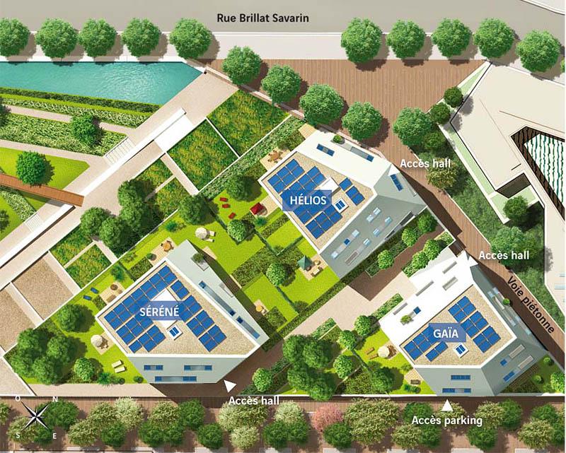 Plans for the eco district in Paris, France, Plan de masse de l'éco-quartier Rungis, Paris 13ème