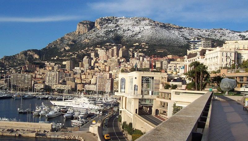 View of the Tête-de-Chien in Monaco