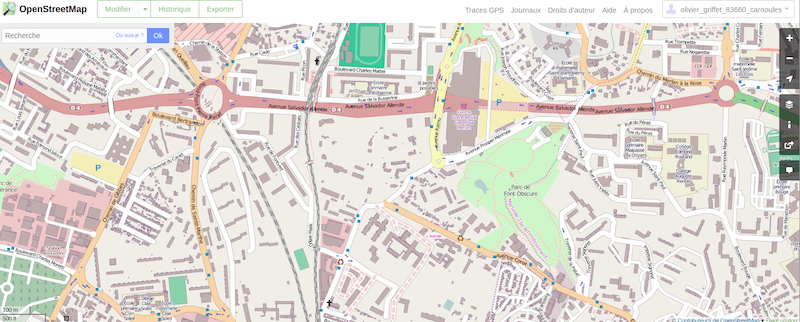 OpenStreetMap of Marseille, France