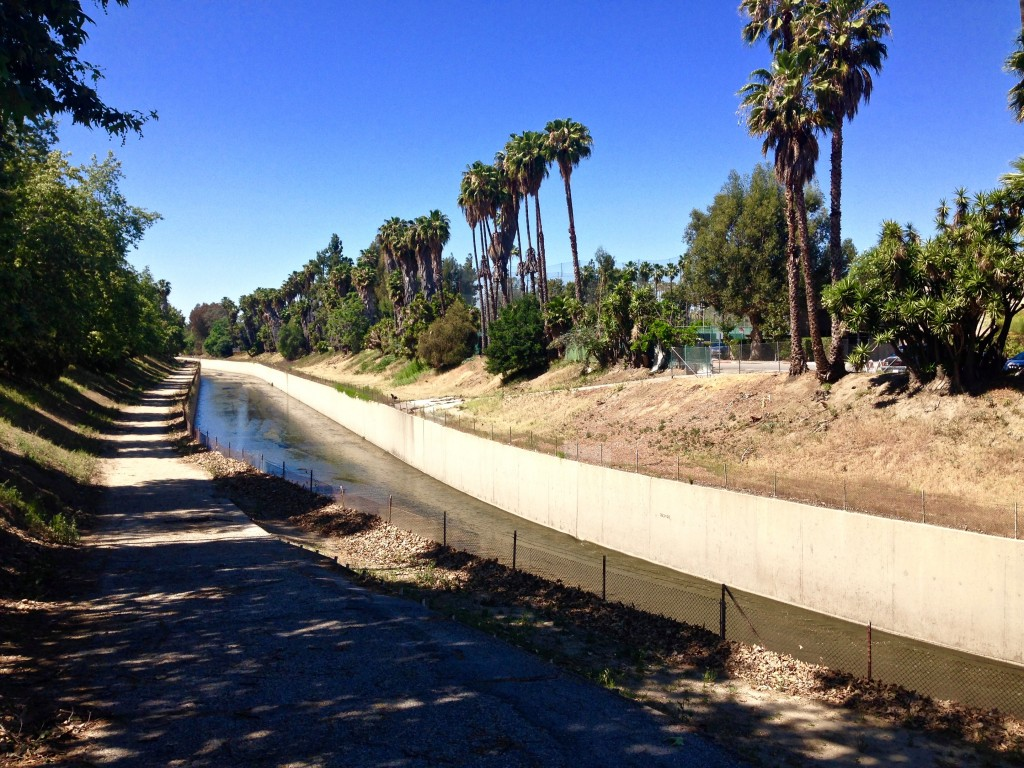 L.A. River - Flood Control Channel, Los Angeles, CA, USA