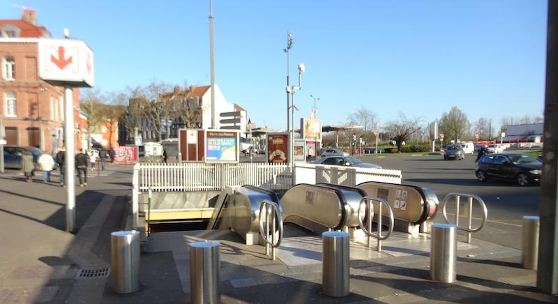 Entrance to Porte des Postes Station, Lille, France