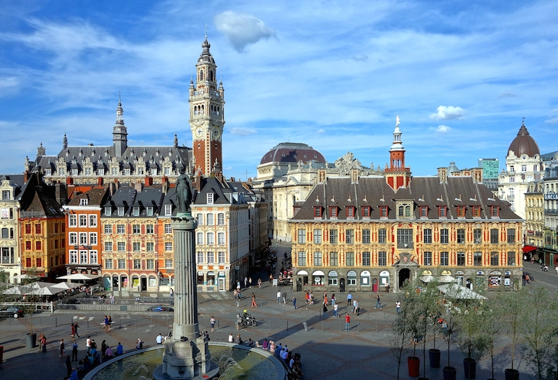 View of Lille, France City Hall
