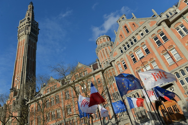 Alternate View of City Hall in Lille, France