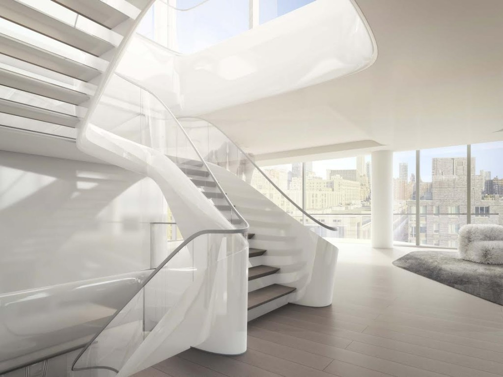 A rendering of the interior by Zaha Hadid Architects