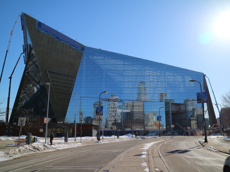 U.S. Bank Stadium, Construction, Minneapolis, Minnesota