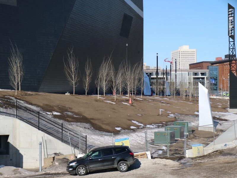 U.S. Bank Stadium, Planting Trees, Minneapolis, Minnesota