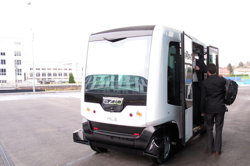 EZ10 Driverless Vehicle Prototype, Biot, France
