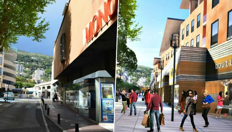 Before and After image of Martelly quarter, Grasse, France in 2021