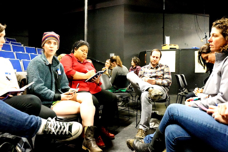 A Conversation on Poverty, Homelessness, and Hunger in Carrboro and Chapel Hill; small group discussion; town hall meeting; The ArtsCenter in Carrboro