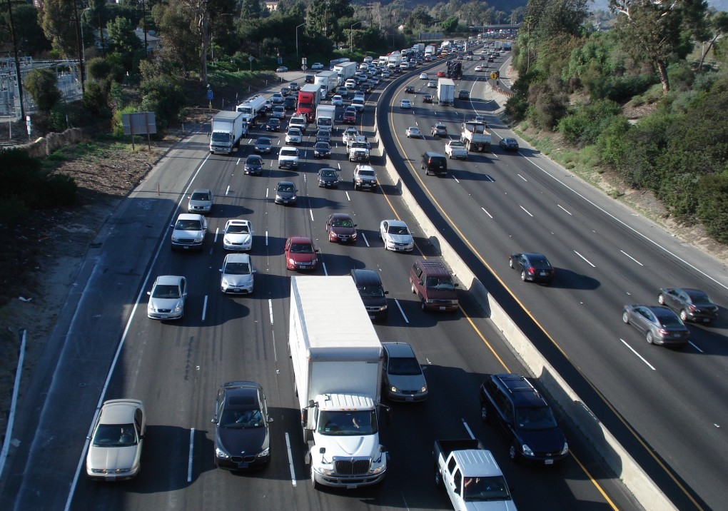 Los Angeles Traffic, I-5, LA, CA, USA