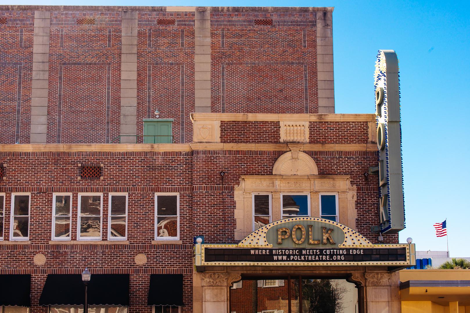 Historically Preserved Polk Theatre in Lakeland, Florida, United States
