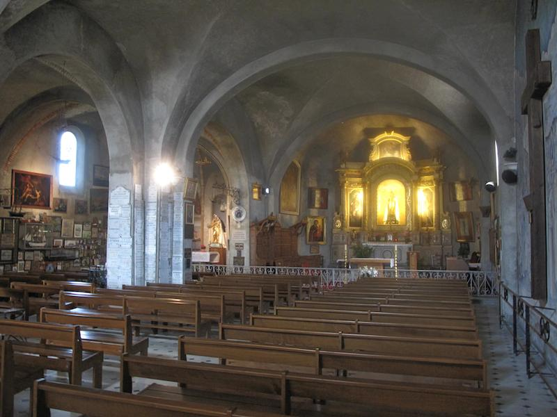 Interior of Notre Dame de la Garoupe, Antibes, France