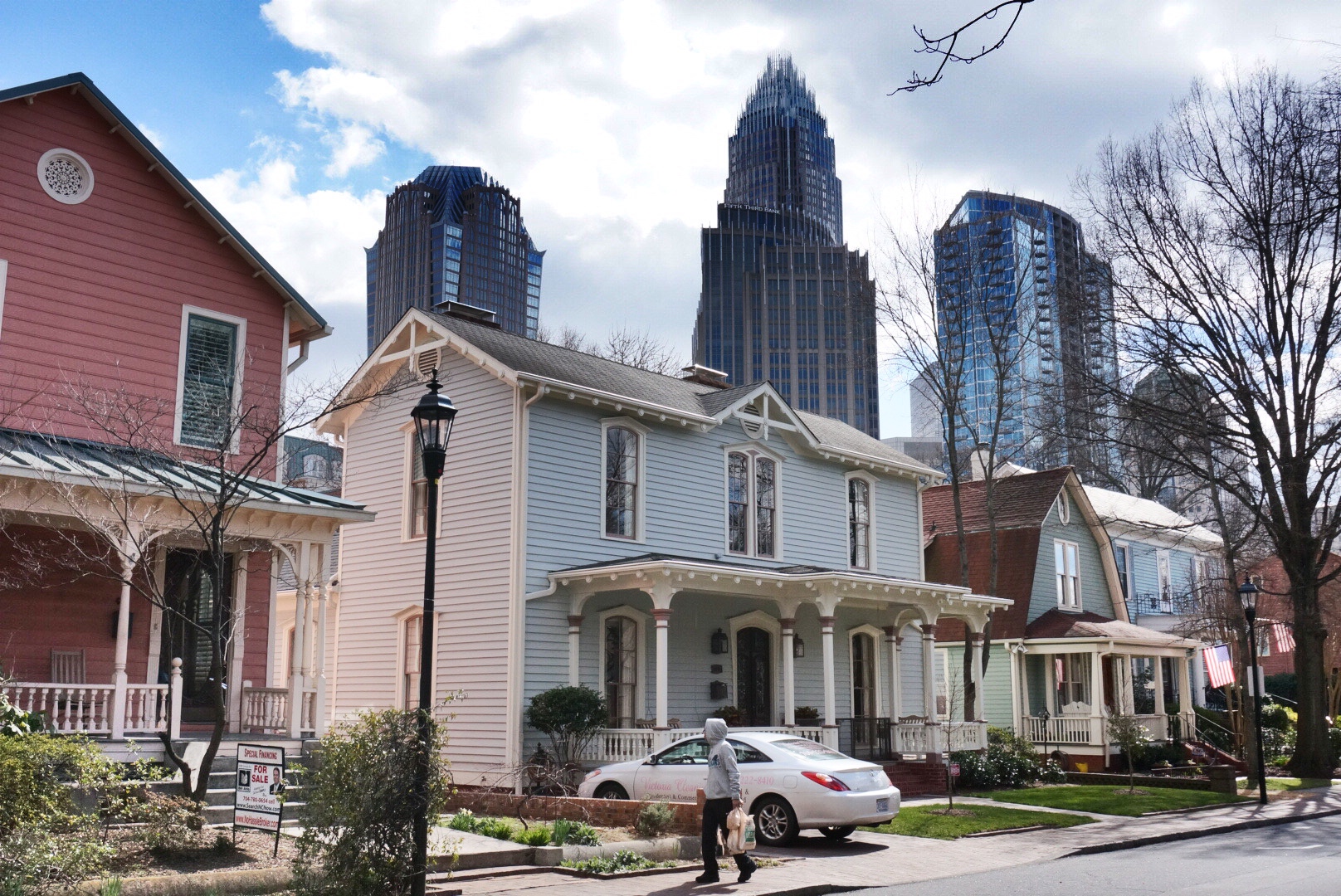 Historic Fourth Ward in uptown Charlotte, North Carolina