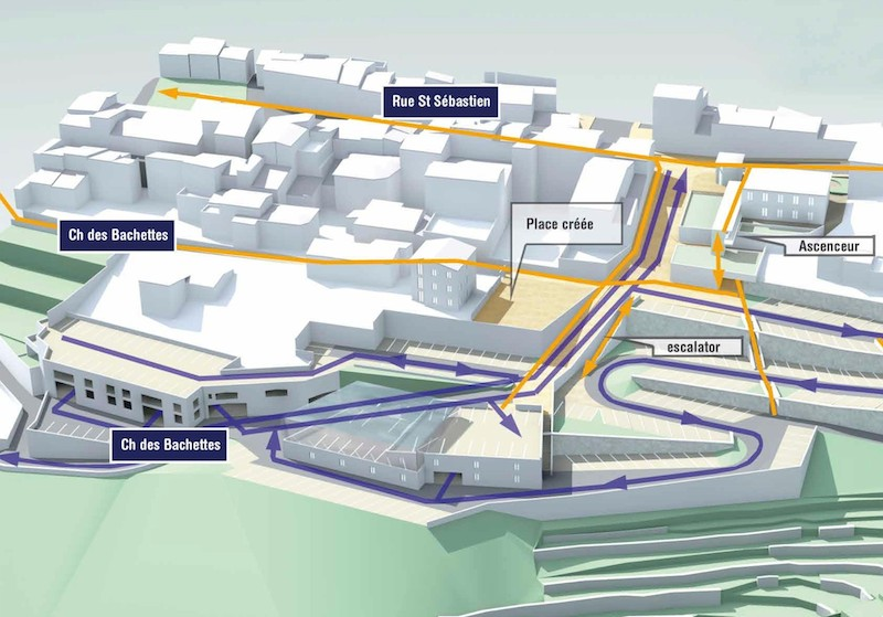 Plans for Future Parking Complex in Biot, France