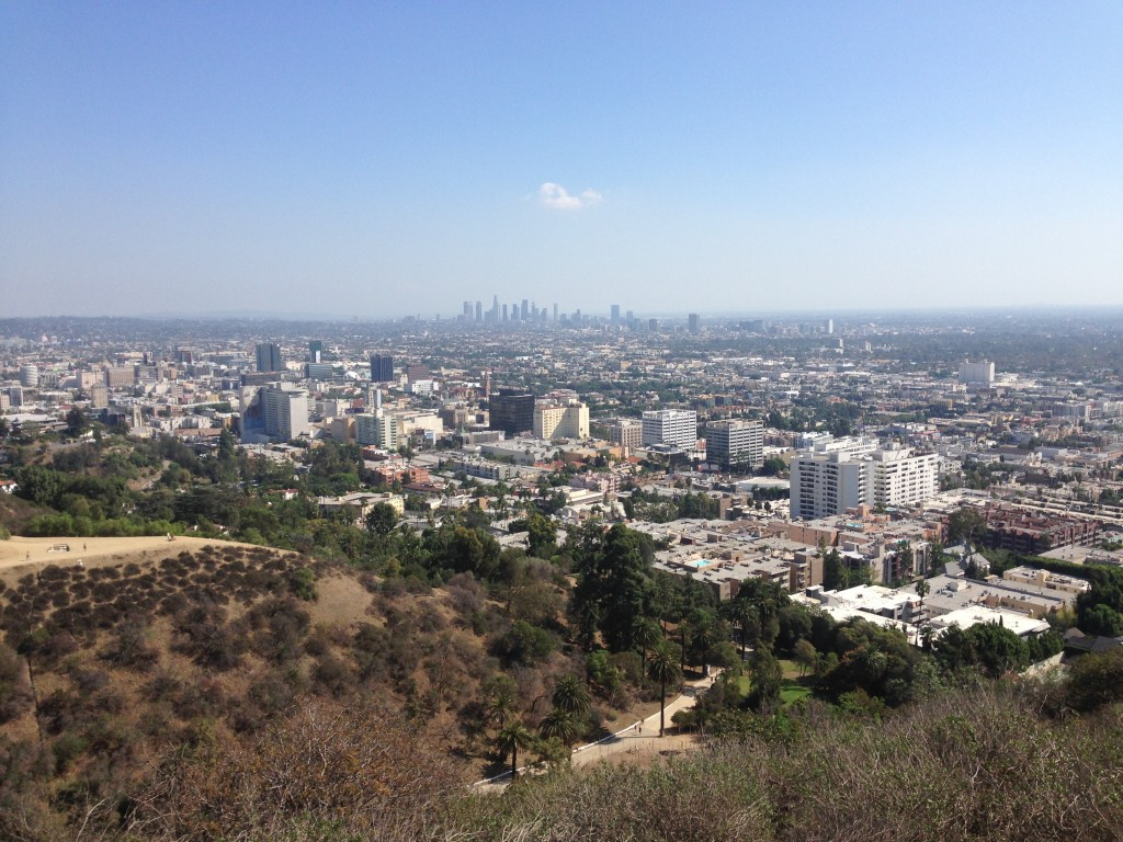View of L.A., Runyon Canyon Park, Los Angeles, California, USA
